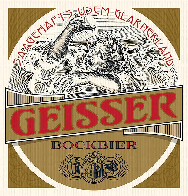 AB Sagenbier Etikette Geisser  ACHTUNG! GmbH Bern