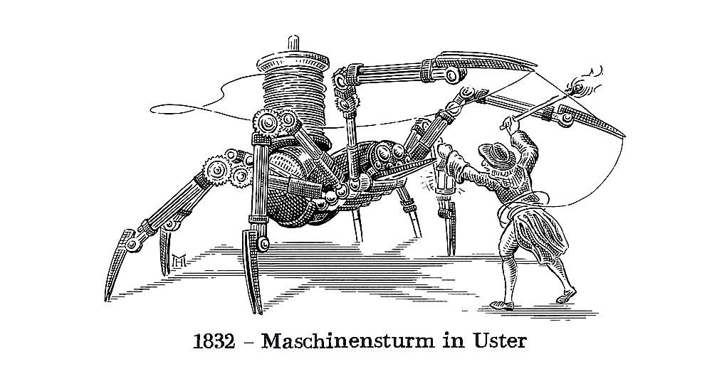 Maschinensturm in Uster  ACHTUNG! GmbH Bern