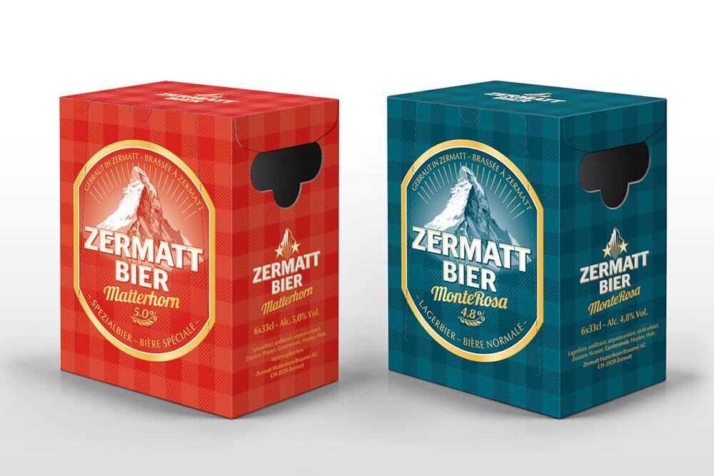 Zermatt Bier Sixpacks  ACHTUNG! GmbH Bern